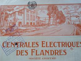 Elektrische Centrale Des Flandres 1920 Super Deco - Electricidad & Gas