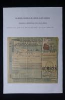 FRANCE - Bulletin De Colis Postal En 1943 De Petite Marche ( Allier ) Pour Paris  - L 85025 - Cartas