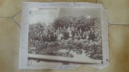 Grande Photo Mariage DEGOUE - SAUVAISTRE à LA CHARITE SUR LOIRE En 1883  ......... Phot-8 - Ancianas (antes De 1900)