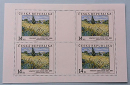 MNH Sheetlet CZECH REP. 1993: Vincent Van GOGH (Green Wheat Field), Arts On Stamps, CV Mi€ 14.00 - Blokken & Velletjes