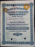 SOPAFININ Soc Part. Finan. Et Indus.1934 - Mineral