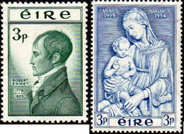Irlande N° 122 Et 122 ** R. Emmet Et Vierge Et L'enfant Par Lucca Della Robbia - Ohne Zuordnung