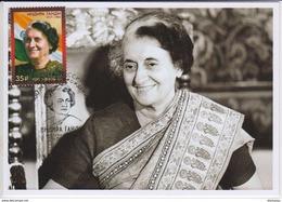 2479 Mih 2260 Russia KM Cards Maximum 2017 09 1 Indira Gandhi Prime Minister Of India - Cartoline Maximum