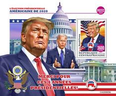 CENTRAL AFRICA 2020 - D. Trump, Arrows, S/S. Official Issue [CA200605b] - Boogschieten