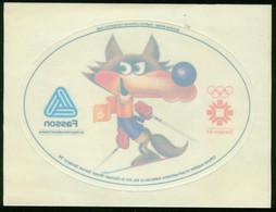 So Sticker   Olympic Games Sarajevo 1984. Mascot. On Original Carrier Film - Otros