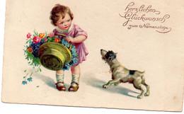 DC1187 - Sehr Schöne Motivkarte Kleines Mädchen Mit Hund - Abbildungen