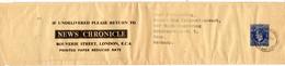 GB 1952, 1d Streifband Ganzsache V London N. Bonn M. News Chronical Zudruck - Non Classificati