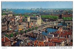 Amsterdam - Damrak Avec Vue Sur L'Y. - Met Gezicht Ophet Y. - 1964 - Amsterdam