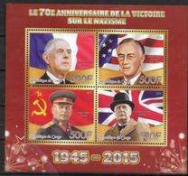 CONGO  BF   * *   Guerre  De Gaulle Staline Churchill  Roosevelt - De Gaulle (General)