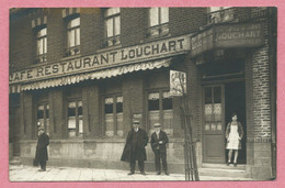62 - BETHUNE - Carte Photo - Café - Restaurant LOUCHARD - Boulevard Frédéric DEGEORGE - N° 173 - Bethune