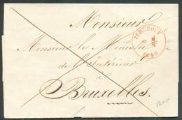 LSC De TURNHOUTle 5 Juilet 1846 (dateur Perpendiculaire) En Franchise De Portvers Le Ministre De L'intérieur à Bruxell - 1830-1849 (Belgio Indipendente)