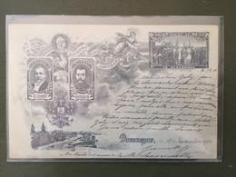 LOUBET Et NICOLAS - 18-21 Septembre 1901- Carte Envoyée Le 18 Sept - Demonstrationen