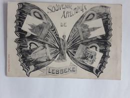 SOUVENIR DE LEBBEKE MET RECLAME LAURENT WATERLOO 1912 - Lebbeke