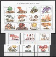 VV699 LESOTHO MUSHROOMS OF THE WORLD FLORA NATURE SH+SET MNH - Mushrooms