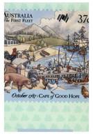 (EE 27) Snall Size Card - Australia First Fleet (with Stamp And Postmark) 4 Cards - Geschichte
