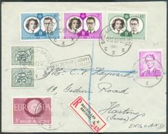 N°1027(paire)-1067-1150-1169/1171 (Série Mariage Royal Baudouin Et Fabiola) Obl. Sc BRUXELLES X Sur Lettre Recommadnée D - Briefe U. Dokumente