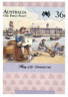 (EE 27) Snall Size Card - Australia First Fleet (with Stamp And Postmark) 5 Cards - Geschichte