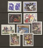 France 1961/3 - Tableaux - Petit Lot De 3 Séries Complètes De Timbres MH - Vrac (max 999 Timbres)