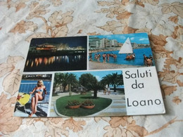 PIN UP  GIOVANE DONNA BIONDA  SALUTI DA LOANO VEDUTE LIGURIA - Pin-Ups