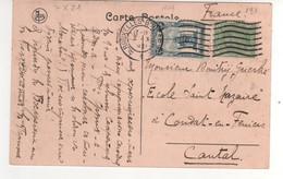 Beaux Timbres Yvert N° 137 , 164 Sur Cp , Carte , Postcard  Du 07/10/1921 - Cartas