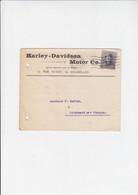 Harley - Davidson Motor - Enveloppe Met Brief - Bruxelles 1920 Naar Mr. Dufour Lichtaart Bij Tielen - Motos