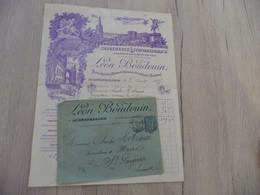 Lettre + Enveloppe à En Tête Pub Illustrée Montpellier Boudouin Imprimerie Lithographique 1895 1 TP Type Sage - Printing & Stationeries