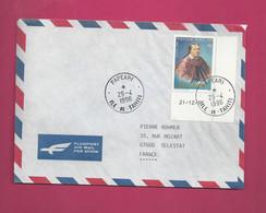 Lettre De 1996 Pour La France - YT N° 506 En CDF - Reine De Pomaré - Storia Postale