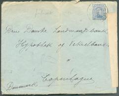 N°141 - 25 Centimes (perforé C.L.) Obl. Sc BRUSSEL 10 Sur Lettre Du17-II-1919 Vers Copenhague(DK) + Bande De Censure Mi - Belgisch Leger