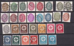 Deutsches Reich - Dienstmarken - 1927/34 - Sammlung - Ungebr.m.Falz/Gestempelt - Used Stamps
