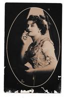 Woman Portrait Old Postcard Posted 1910 Beograd To Nagysecskerek B210112 - Pin-Ups