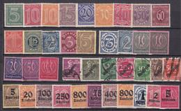 Deutsches Reich - Dienstmarken - 1920/23 - Sammlung - Ungebr.m.Falz/Gestempelt - Used Stamps