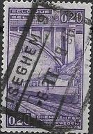 BELGIUM 1935 Railway Stamp - Centenary Of Belgian Railway - 20c - Violet FU - 1923-1941