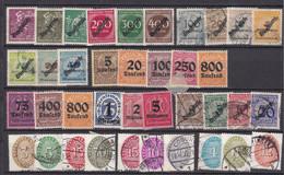 Deutsches Reich - Dienstmarken - 1923/33 - Sammlung - Ungebr.m.Falz/Gestempelt - Used Stamps