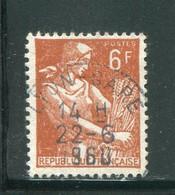 FRANCE-Y&T N°1115- Oblitéré (très Belle Oblitération!!!) - 1957-59 Moissonneuse