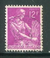 FRANCE-Y&T N°1116- Oblitéré (très Belle Oblitération!!!) - 1957-59 Moissonneuse