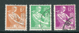 FRANCE-Y&T N°1115 à 1116- Oblitérés - 1957-59 Moissonneuse