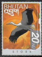 BHOUTAN  N° 1476z  * *  Oiseaux  Cigogne - Picotenazas & Aves Zancudas