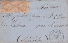 MARQUE POSTALE    LSC MARSANNE  POUR ANDANCE  GC 2238   20 DEC1870 - 1849-1876: Periodo Classico