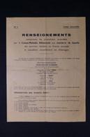 GUERRE 1939/45 - Fascicule De Renseignements Les Prestations Accordées Pour Les Membres De La Famille Des STO - L 85052 - Documentos