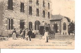 LOIRE MONT PILAT GRAND HOTEL DEPART DE LA VOITURE POUR CHAVANAY ANIMEE ECRITE - Mont Pilat