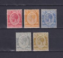 KENYA AND UGANDA 1922/27, SG# 82-86, Part Set, King, Personalities, MH - Kenya & Uganda