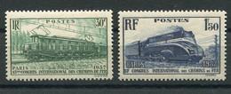 RC 19734 FRANCE COTE 20€ N° 339 / 340 CONGRÈS DES CHEMINS DE FER NEUF ** TB - Neufs