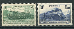 RC 19735 FRANCE COTE 20€ N° 339 / 340 CONGRÈS DES CHEMINS DE FER NEUF ** TB - Ongebruikt