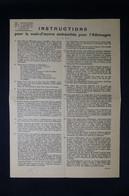 GUERRE 1939/45 - Instructions Pour La Main-d'œuvre Embauchée En Allemagne - L 85053 - Documentos