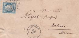 MARQUE POSTALE   LSC VALENCE   AVEC CONVOYEUR STATION 17 M VAL   AVRIL 1875 - 1849-1876: Periodo Classico