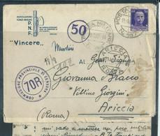 § BUSTA In FRANCHIGIA  PM 167 14° BATTGLIONE PRESIDIARIO X ARICCIA ROMA § - War 1939-45