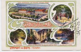 10865 -    Hérault - LAMALOU Les BAINS : GRAND HOTEL MAS :  En  CHROMOLITHOGRAPHIE - Lamalou Les Bains