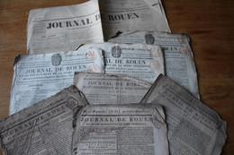 Lot De Journaux  JOURNAL DE ROUEN  Revolution Et Autres - Diplomi E Pagelle