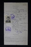 GUERRE 1939/45 - Sauf Conduit De La Préfecture Du Lot Et Garonne En 1945 Pour Agen / Calvi - L 85057 - Documentos