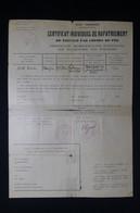 GUERRE 1939/45 - Certificat De Rapatriement De Réfugié Par Chemin De Fer En 1941 - L 85058 - Documentos